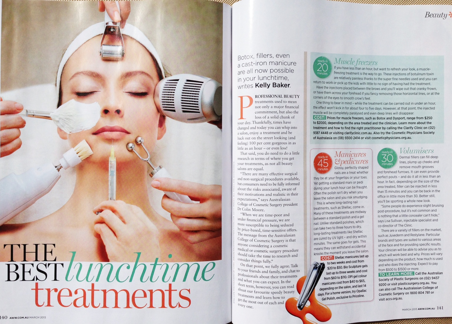 Clarify Clinic in Australian Women's Weekly